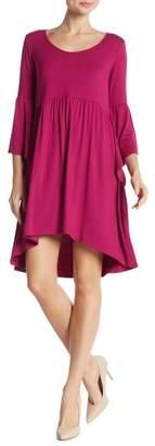 Loveappella Angel Sleeve Baby Doll Dress