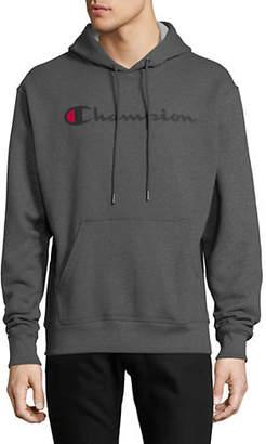 Champion Logo Long-Sleeve Hoodie
