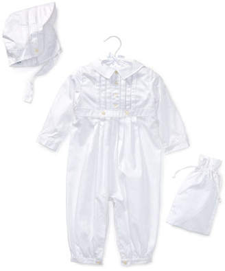 Ralph Lauren Cotton Special Occasion Set, White, Size 3-9 Months