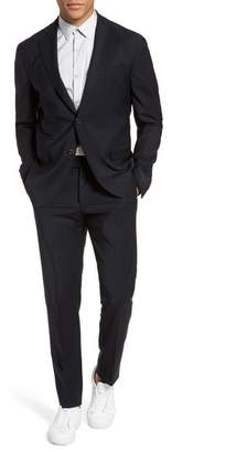 Eleventy Trim Fit Stretch Wool Suit