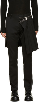 Dsquared2 Black Admiral Kilt Trousers $1,550 thestylecure.com