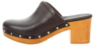 UGGUGG Australia Round-Toe Leather Clogs