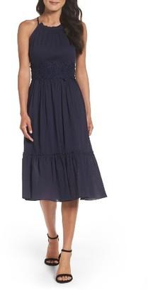 Women's Eliza J Halter Midi Dress $128 thestylecure.com