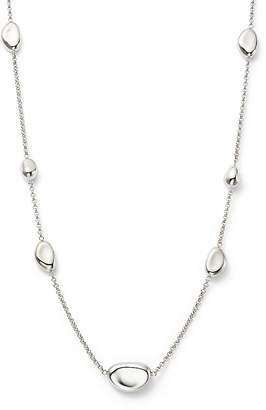 """Bloomingdale's Sterling Silver Pebble Station Necklace, 18"""" - 100% Exclusive"""