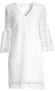 fbcb22c4 Trina Turk Women's Keys Lace Bell Sleeve Sheath Dress - Size 0