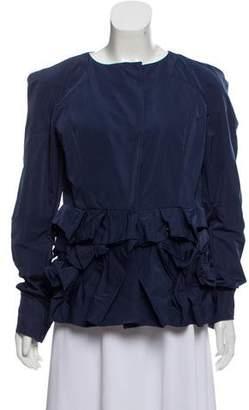 Marni Ruffle-Accented Long Sleeve Jacket