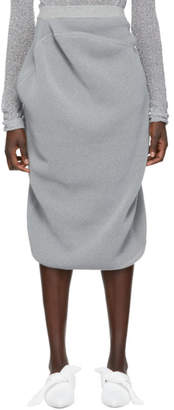 Jil Sander Grey Reflective Skirt