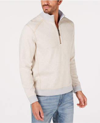 Tommy Bahama Men's Reversible Flipsider Half-Zip Pima Cotton Sweatshirt
