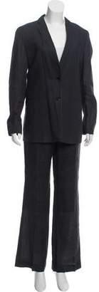 Burberry Linen Notched-Lapel Pantsuit