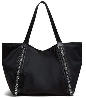 Stella McCartney Falabella Chain Embellished Tote - Womens - Black