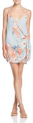 Olivaceous Floral Mini-Wrap Dress $68 thestylecure.com