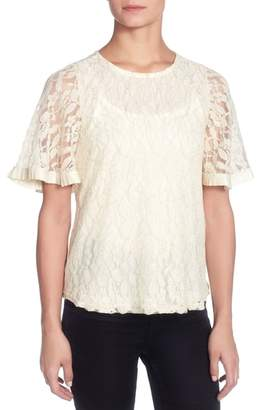 Catherine Malandrino Opal Lace Top