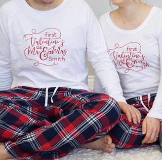 cae4f163b Sparks And Daughters Personalised First Valentines As Mr And Mrs Pyjamas
