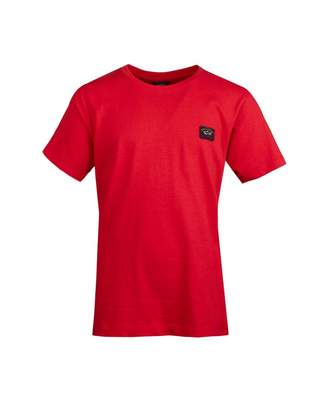 AG Jeans Paul And Shark Junior Classic Patch Logo T-shirt Colour: RED, Size
