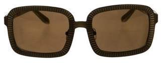 Alexander Wang x Linda Farrow Zip-Trimmed Tinted Sunglasses