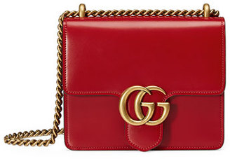 Gucci GG Marmont Small Leather Shoulder Bag, Red $1,750 thestylecure.com