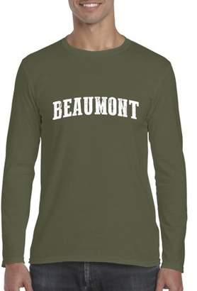 Beaumont Ugo TX Texas Flag Houston Map Longhorns Bobcats Home Texas State University Softsyle Long Sleeve Men's T-Shirt Tee