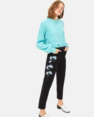Topshop Fan Flower Jeans