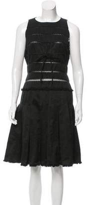 Ralph Rucci Pleated Poplin Dress
