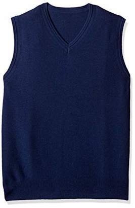 The Knitwear Lab Men's 3D Knitted V-Neck Vest