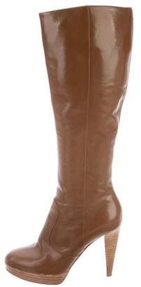 Sergio Rossi Knee-High Platform Boots