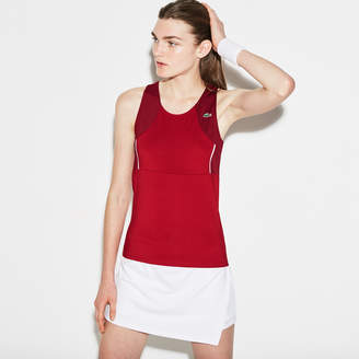 Lacoste Women's SPORT Tennis Stretch Jersey Racerback Tank Top