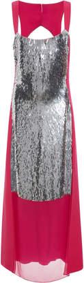 Prabal Gurung Matchstick Paillette Panel Dress Size: 2
