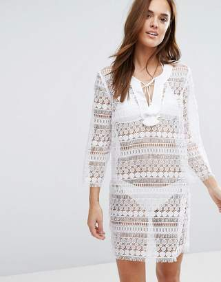 Seafolly Fringed Lace Tunic $181 thestylecure.com