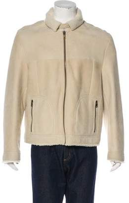 Marc Jacobs Suede Shearling Jacket