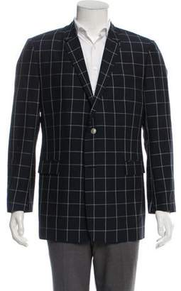 Christian Dior Virgin-Wool Blend Checked Blazer navy Virgin-Wool Blend Checked Blazer