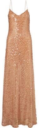 Galvan - Estrella Sequin-embellished Tulle Gown - Copper
