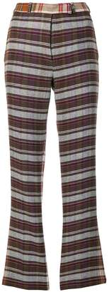 Etro tailored plaid trousers