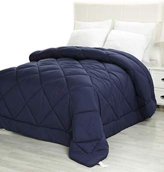 Utopia Bedding Twin Comforter Duvet Insert Navy - Quilted Comforter with Corner Tabs - Plush Siliconized Fiberfill