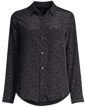 Rails Kate Cheetah Print Silk Button-Down Shirt