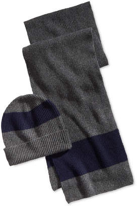 70e0fd960 ... where to buy polo ralph lauren mens ruby stripe hat scarf gift set  82f9b 02503