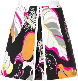 Emilio Pucci abstract print mini skirt