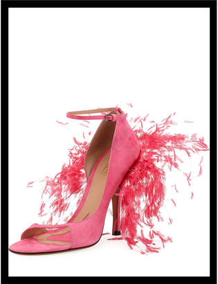 Valentino High-Heel Sandal with Feathers