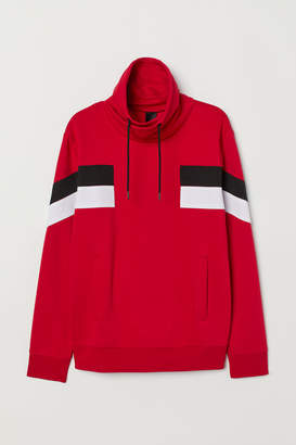 H&M Chimney-collar Sweatshirt - Red