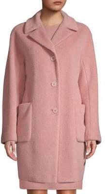 Max Mara Single-Breasted Alpaca& Wool Coat