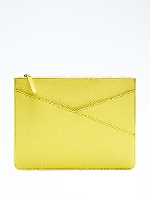 Snake Faux-Leather Zip Pouch $58 thestylecure.com