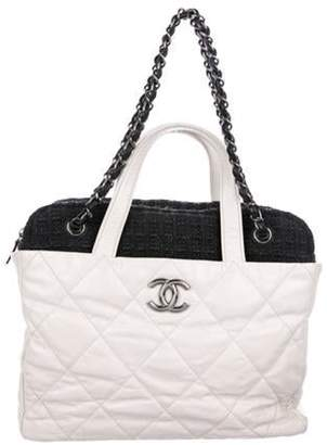 Chanel Portobello Tweed Bag White Portobello Tweed Bag