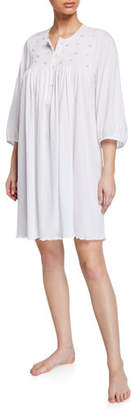 P Jamas Lisa 3/4-Sleeve Cotton Nightgown