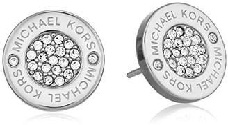Michael Kors Tone Logo Pave Stud Earrings