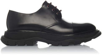 Alexander McQueen Thick-Soled Leather Oxfords