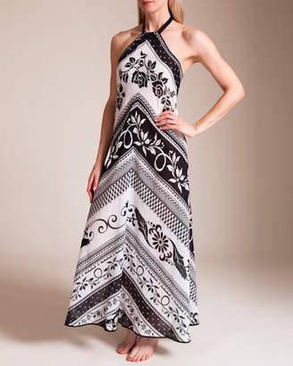 Paladini Resort Stampa Fuoriacqua Portofino Long Dress