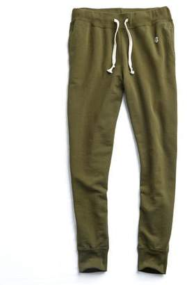 Todd Snyder + Champion Slim Jogger Sweatpant in Military Olive