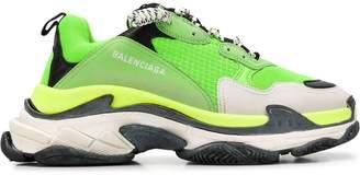 Balenciaga lime green triple s sneakers