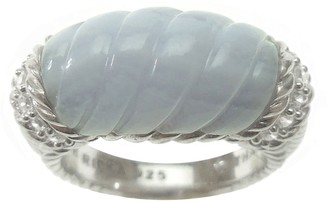 Judith Ripka Sterling and Carved Stone Ring