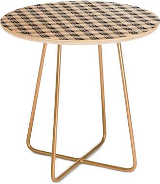 Deny Designs Anthology of Pattern Seville Gingham Black Side Table