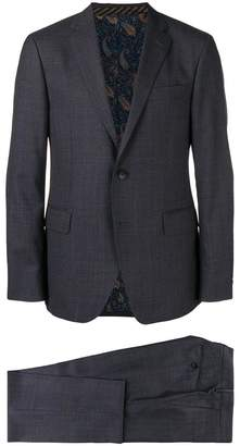 Etro prince of wales patterned suit